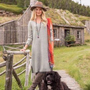 Sundance | Sylvie Gray Merino Wool Sweater Dress L